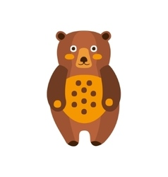Toy Brown Bear Standing Camping And Hiking vector image