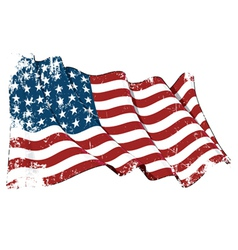 Us flag wwi wwii 48 stars grunge vector