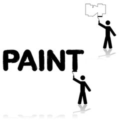 Wall painter vector image