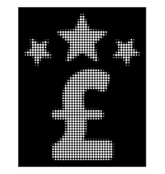 white halftone pound business stars icon vector image