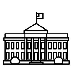 white house in usa line icon sign vector image