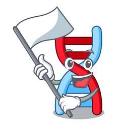 With flag dna molecule mascot cartoon vector