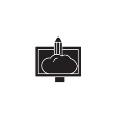 work black concept icon vector image