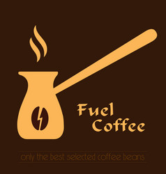 coffee logo cezve icon and label vector image vector image