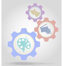 gear mechanism concept 07 vector image