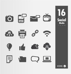 Minimal Styled Icons vector image vector image
