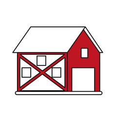 Red barn design vector