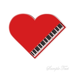Red piano on white background vector image vector image