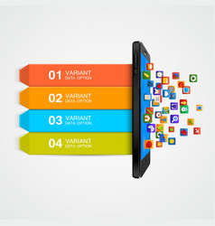smartphone business concept infographic vector image
