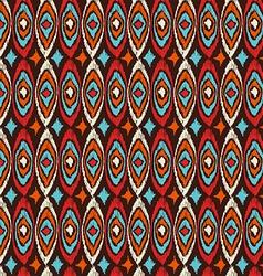 Boho seamless pattern vintage shapes background vector image