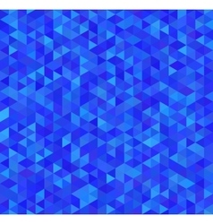Bright blue triangles seamless pattern vector image