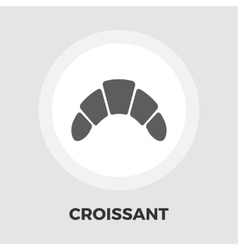 Croissant flat icon vector image