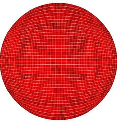 Red Ball in mosaic vector image vector image