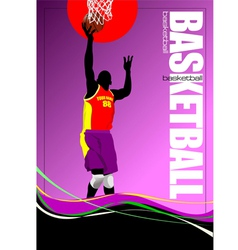 al 0650 basketball vector image