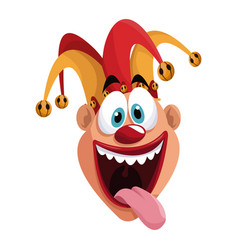 april fools day funny jester vector image vector image