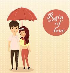 couples rain vector image vector image