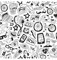 hipsters - seamless backgrounds vector image vector image