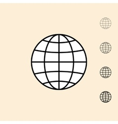 icon of abstract globe vector image vector image