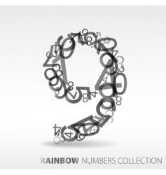 number nine design element vector image vector image