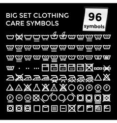 Set Clothing Care Symbols on vector image