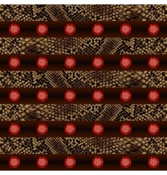 Texture seamless endless pattern Crocodile and vector image vector image