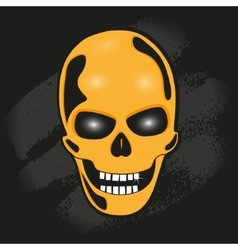 The skull against the wall vector image