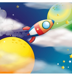 A flying spaceship vector image vector image