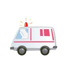 Ambulance car isolated vector image