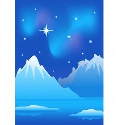 arctic landscape vector image