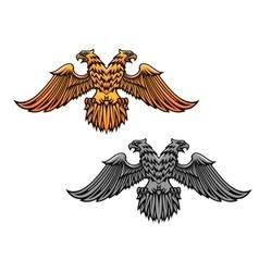 Double eagle mascot vector image