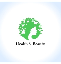 Health and beauty logo concept vector image vector image