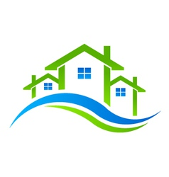 Houses Real Estate logo vector image vector image