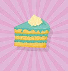 Piece of cake Icon vector image vector image