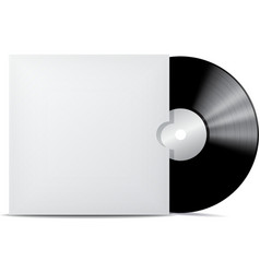 Vinyl record in blank cover envelope vector image vector image