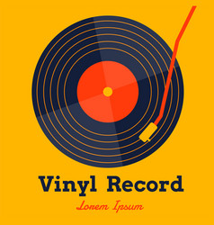 vinyl record music with yellow background graphic vector image