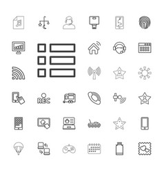 33 mobile icons vector
