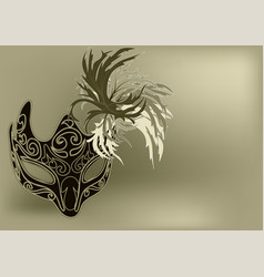 abstract carnival mask vector image