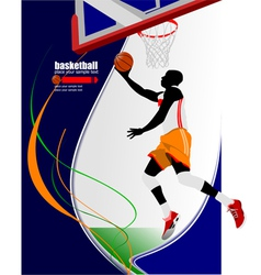 al 0650 basketball 01 vector image
