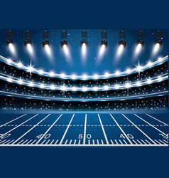 american football stadium arena with spotlights vector image