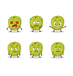 Amla cartoon in character with nope expression vector