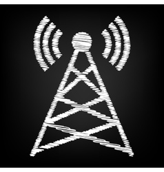 Antenna sign scribble effect vector
