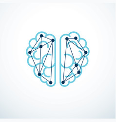 Artificial intelligence concept logo design vector