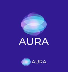 Aura logo light spots logo omni emblem transparent vector