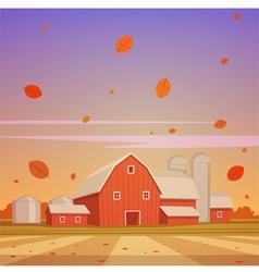 Autumn Farm Landscape vector