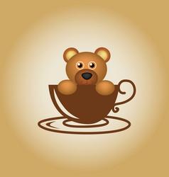 Bear logo coffee vector