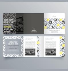 brochure design 915 vector image