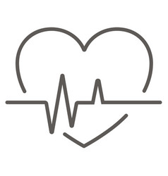 Cardiology wave monitor heart icon black on white vector