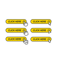 click here icon for web site vector image