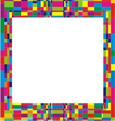 Colorful frame design vector