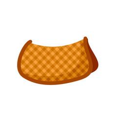 Cotton warm saddle icon flat style vector